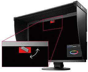 より小型化した内蔵キャリブレーションセンサーで、自動再調整