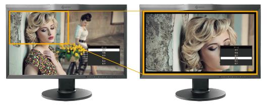 撮影映像のフォーカス確認のためのズーム機能を搭載